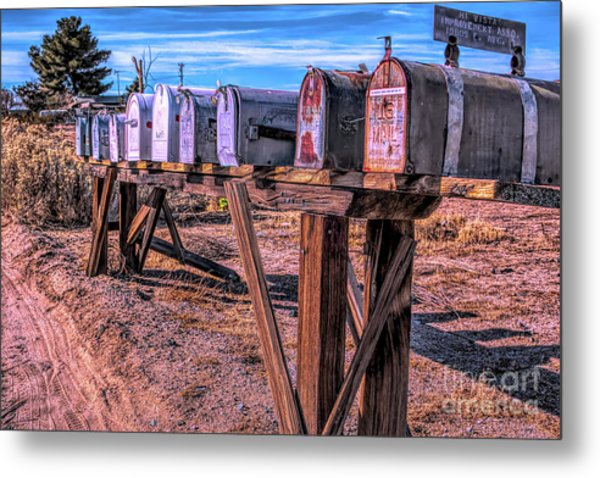 The Mailboxes Metal Print