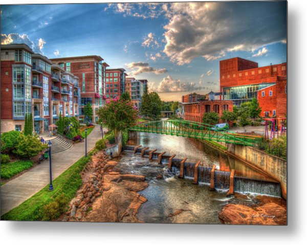 The Main Attraction Reedy River Greenville South Carolina Art Metal Print