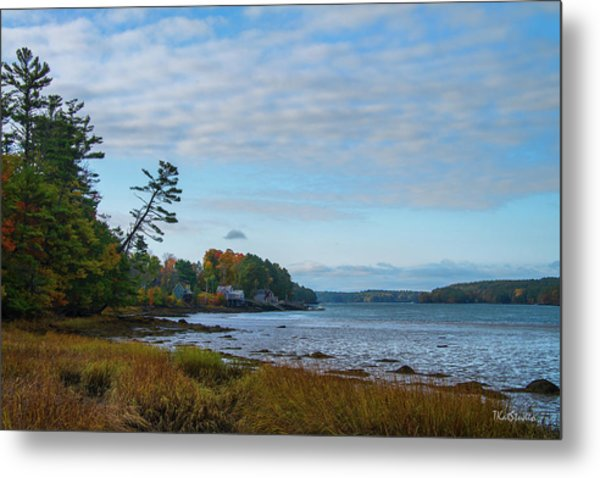 The Maine Coast Near Edgecomb  Metal Print