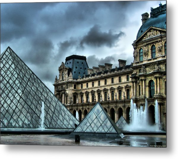 The Majestic Louvre Metal Print by Greg Sharpe