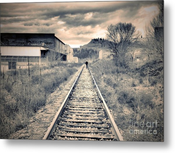 The Man On The Tracks Metal Print