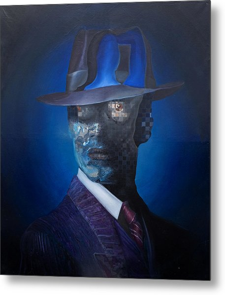 Metal Print featuring the painting The Manager by Obie Platon