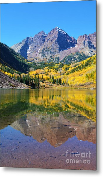 Metal Print featuring the photograph The Maroon Bells by Kate Avery