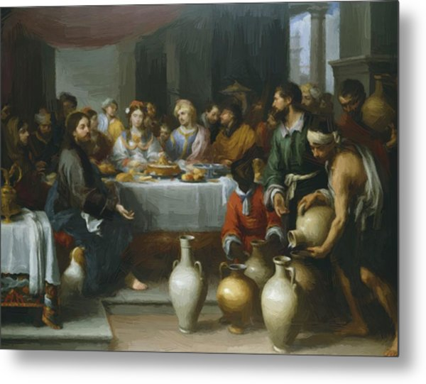 The Marriage Feast At Cana Metal Print