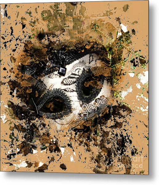 The Mask Of Fiction Metal Print