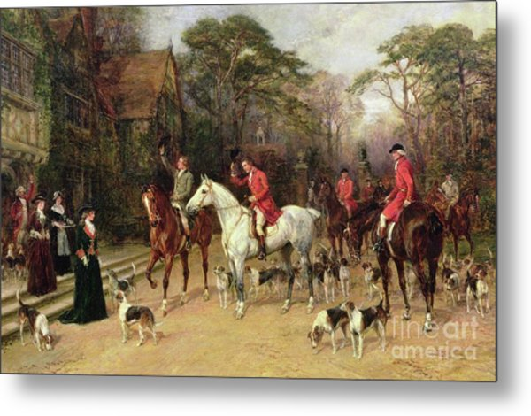 The Meet At The Manor House Metal Print