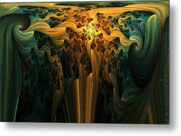 The Melting Earth Metal Print