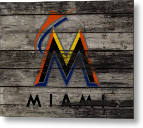 The Miami Marlins 1a Metal Print