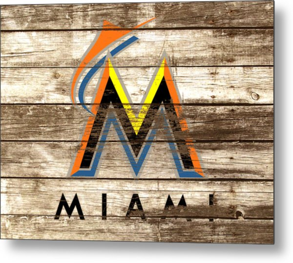 The Miami Marlins Metal Print