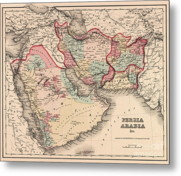 The Middle East In The Mid 19th Century Metal Print