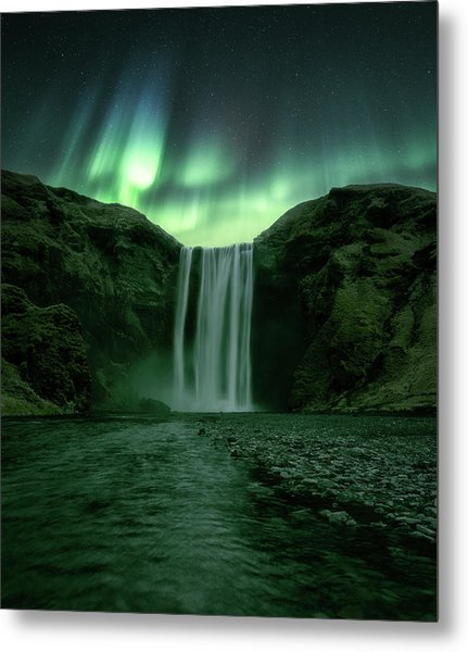 The Mighty Skogafoss Metal Print