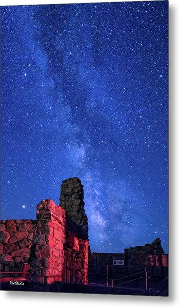 The Milky Way Over The Crest House Metal Print