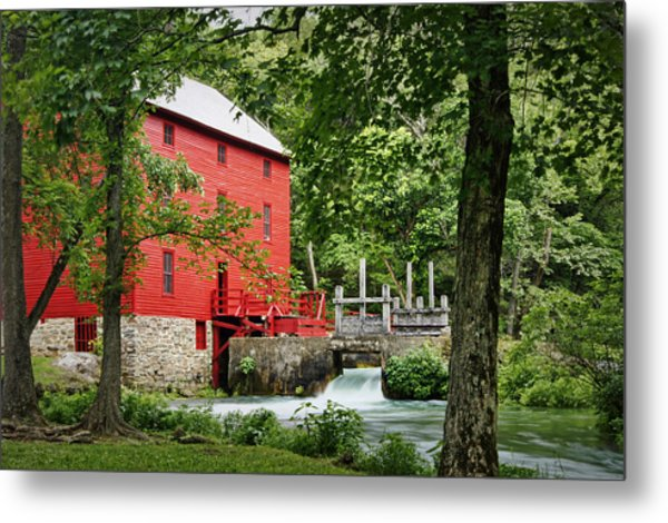 The Mill At Alley Spring Metal Print