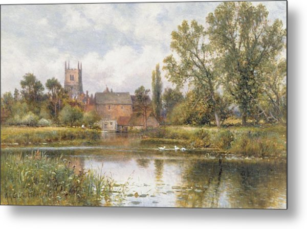 The Millpond Metal Print