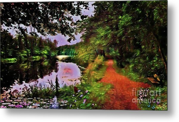 The Mirror Lakes Metal Print