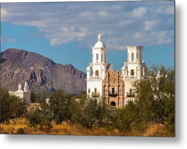 Metal Print featuring the photograph The Mission And The Mountains by Ed Gleichman