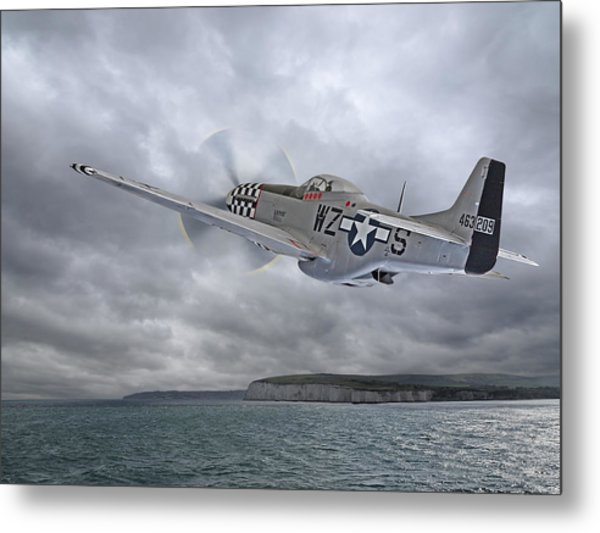 The Mission - P51 Over Dover Metal Print