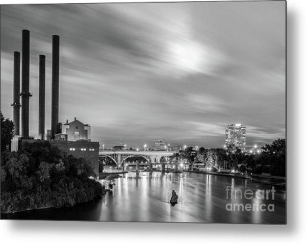 The Mississippi River Night Scene Metal Print