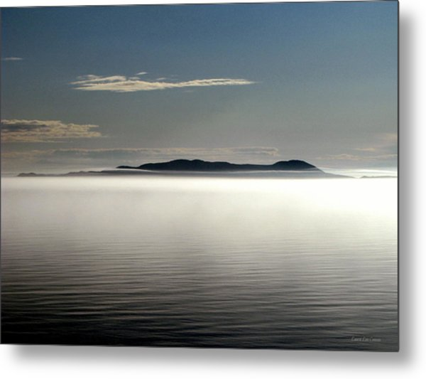 The Mists Of Pic Island Metal Print by Laura Wergin Comeau
