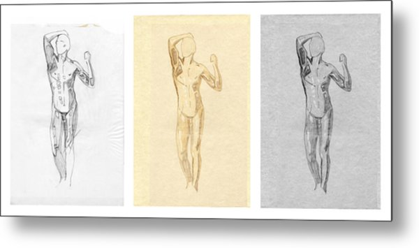 The Modern Age - Triptych - Homage Rodin  Metal Print