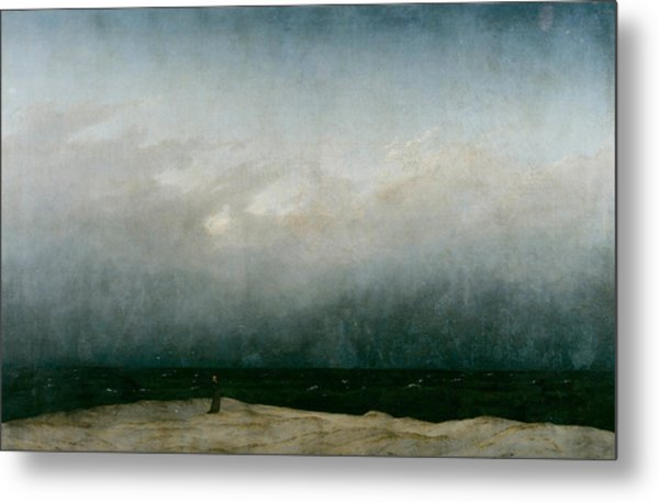 Monk By The Sea  Metal Print
