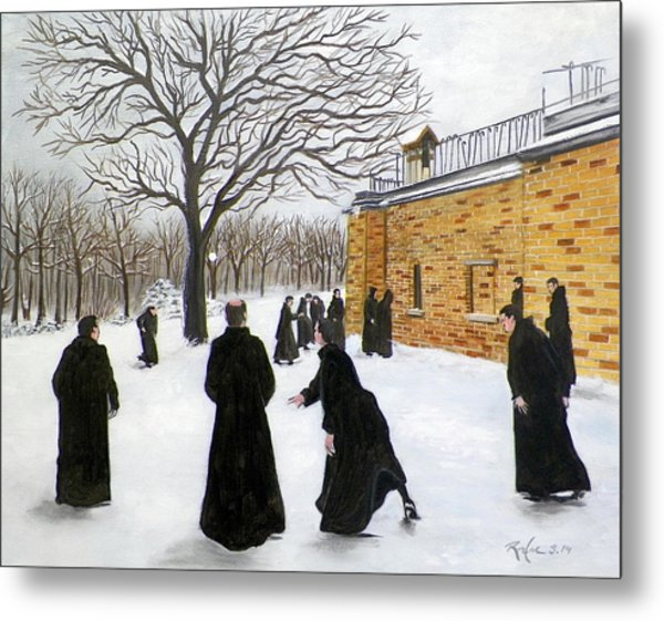 The Monks Of Clear Creek Abby Metal Print