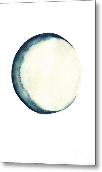 The Moon Watercolor Poster Metal Print
