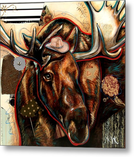 The Moose Metal Print