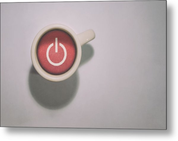 The Morning Power Up Metal Print
