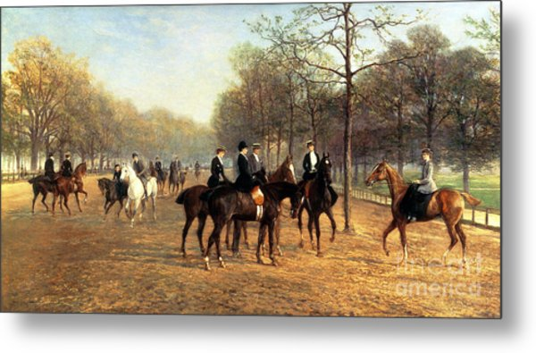 The Morning Ride Rotten Row Hyde Park Metal Print