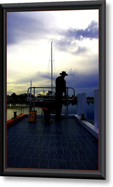 The Morning Wait. Metal Print