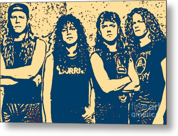 The Most Famous Metal Rockers Metal Print