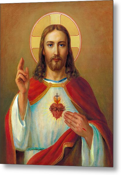 The Most Sacred Heart Of Jesus Metal Print