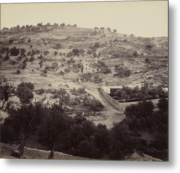 The Mount Of Olives And Garden Of Gethsemane Metal Print