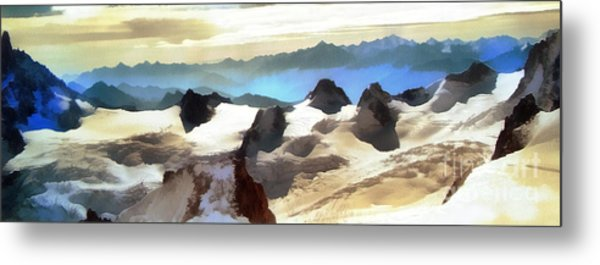 The Mountain Paint Metal Print
