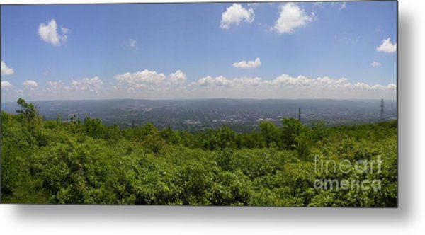 The Mountains Top View Panorama II Metal Print by Daniel Henning