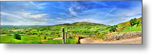 The Mournes Far And Wide Metal Print by Kim Shatwell-Irishphotographer