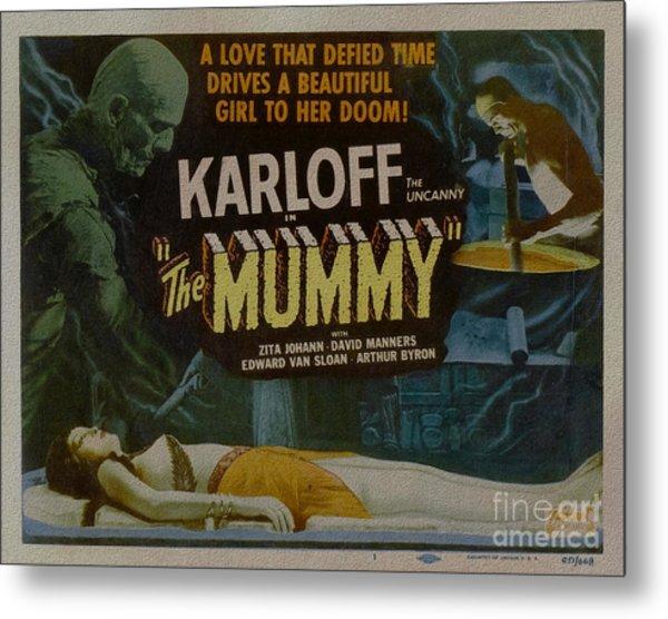 The Mummy 1929 Poster Boris Karloff Metal Print