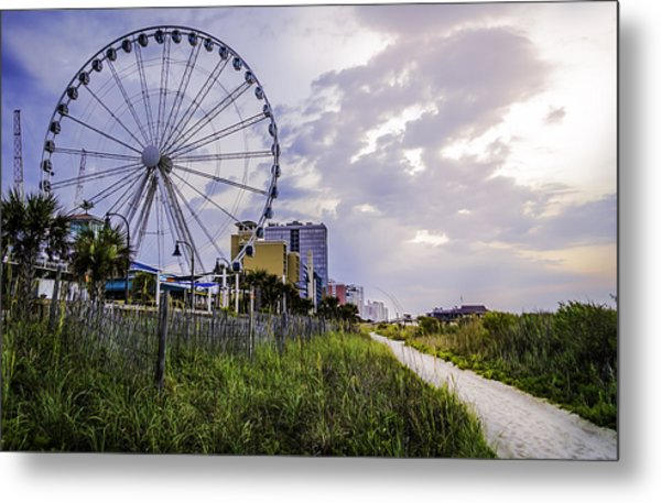 The Myrtle Beach, South Carolina Skywheel At Sunrise. Metal Print
