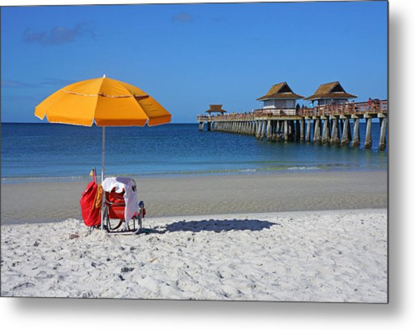 The Naples Pier Metal Print