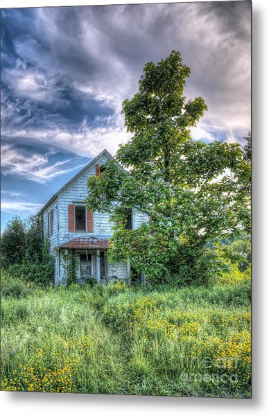 The Nathaniel White Farm House Metal Print