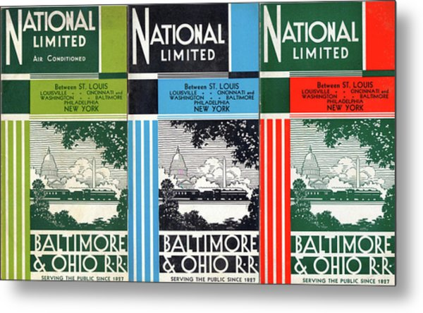 The National Limited Collage Metal Print