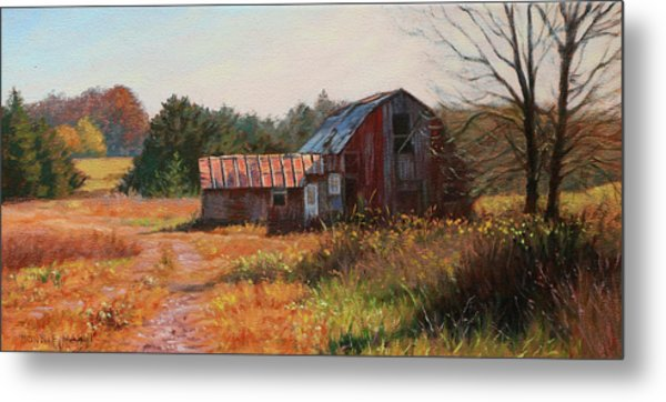 The Neighbor's Barn Metal Print