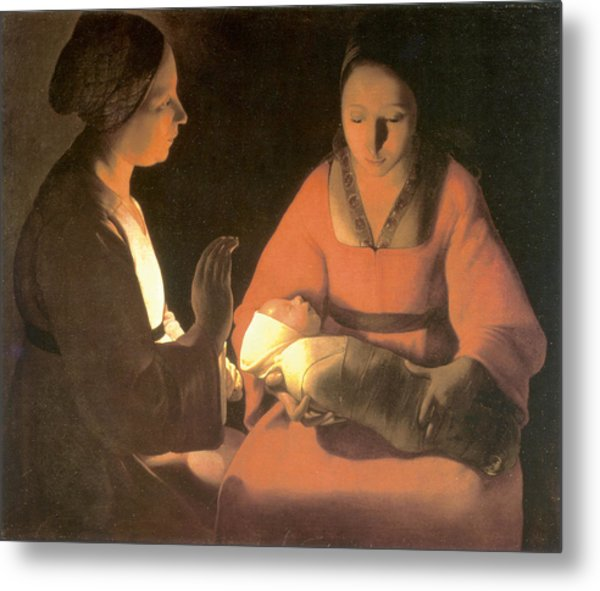 The New Born Child, C. 1645 Metal Print