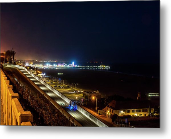The New California Incline - Night Metal Print