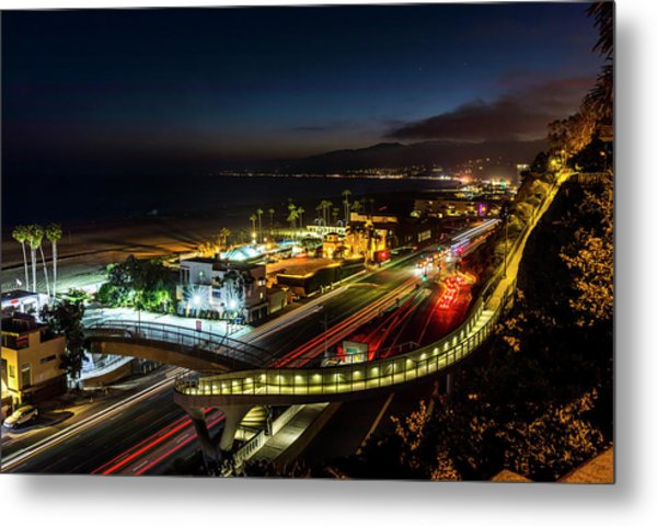 The New P C H Overpass - Night Metal Print