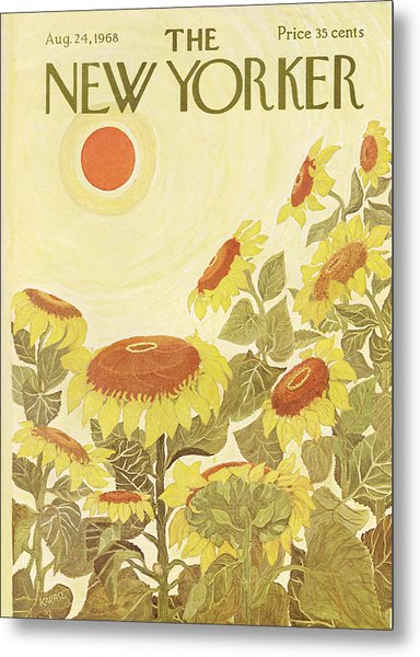 The New Yorker Cover - August 24th, 1968 Metal Print