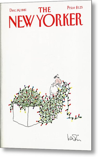 The New Yorker Cover - December 14th, 1981 Metal Print