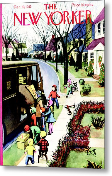 The New Yorker Cover - December 19th, 1953 Metal Print