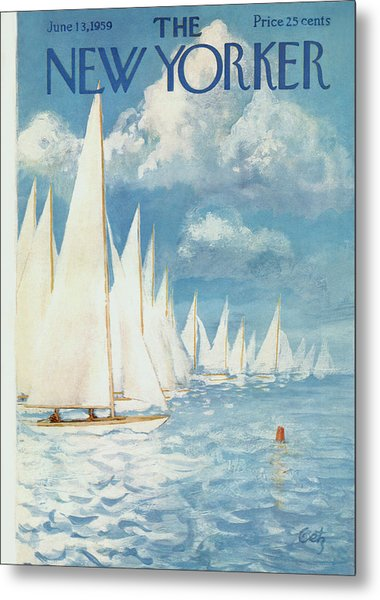 The New Yorker Cover - June 13th, 1959 Metal Print